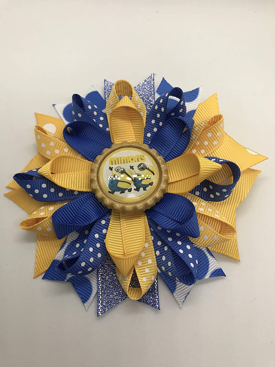 Minions Hair Bow, Little Girl Bows, Toddler Hair Bows,