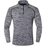 Zesteez Mens Strechable Tshirt full Sleeves | Designer Tshirt With Front Zip Full Sleeves Stretchable Fabric Sports and GYM Wear