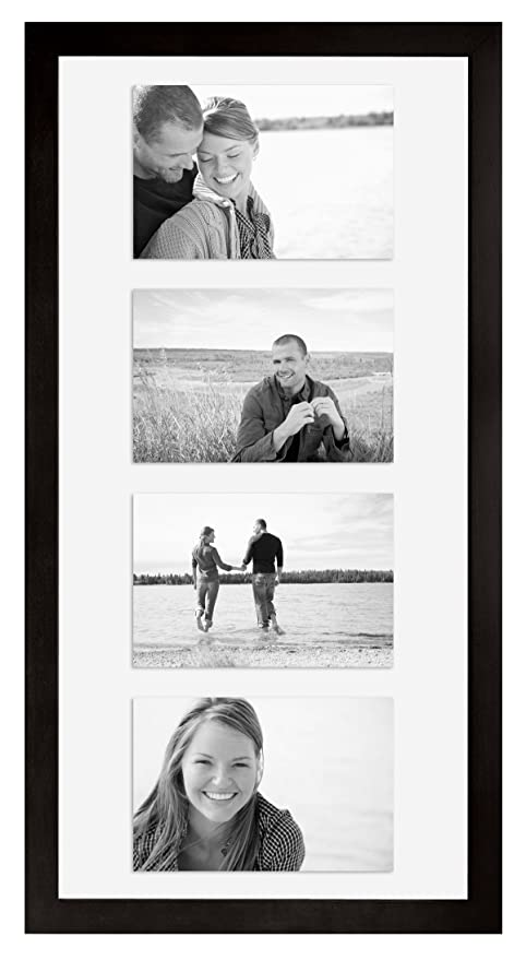 Amazon.com - MCS 10x20 Inch Wood Float Frame, Black (25662) - Luxury ...