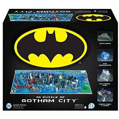 4D Cityscape Batman Gotham City 3D Time Puzzle (1000 Piece): Toys & Games
