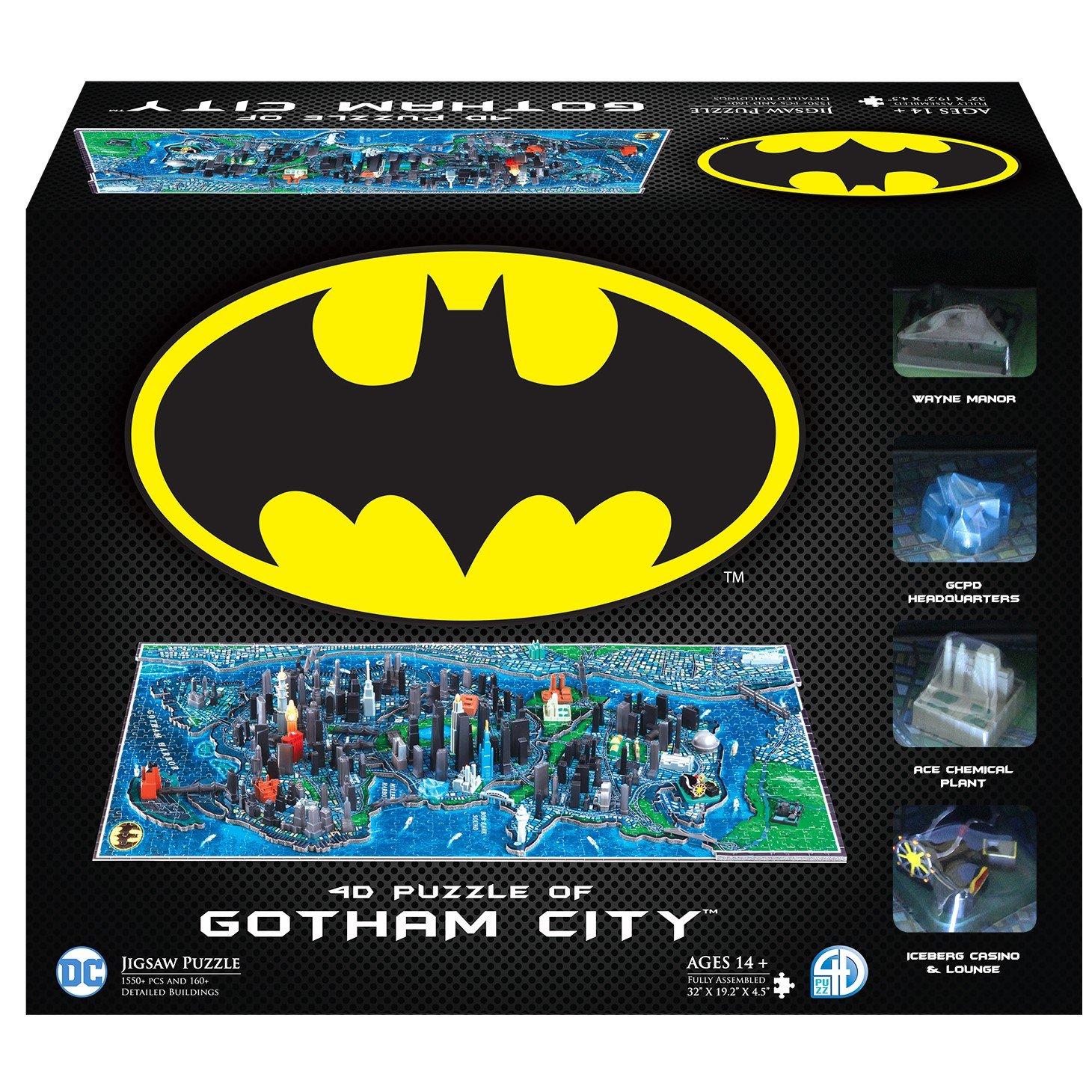4D Cityscape Batman Gotham City 3D Time Puzzle (1000 Piece) by 4D Cityscape