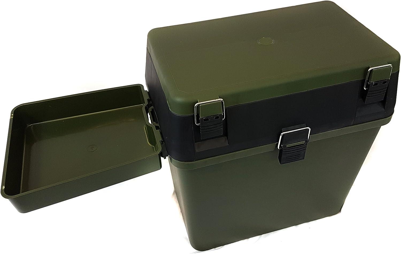 Fishingmad Tackle caja de asiento con bandeja lateral y mochila Opci/ón