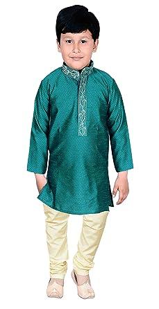 96cf70739 Desi Sarees Boys Sherwani Kurta Pajama Party Costume 915 Blue: Amazon.co.uk:  Clothing