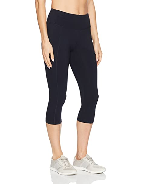 1c56b371301824 Amazon.com: Marika Women's Carrie Slimming Capri Leggings, Midnight ...
