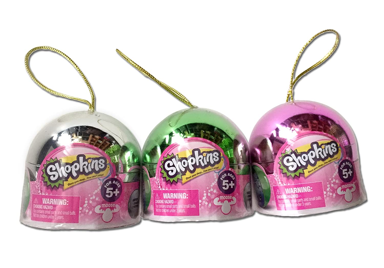 Ultimate Shopkins Christmas Bundle! (3 Exclusive Metallic Ornaments)