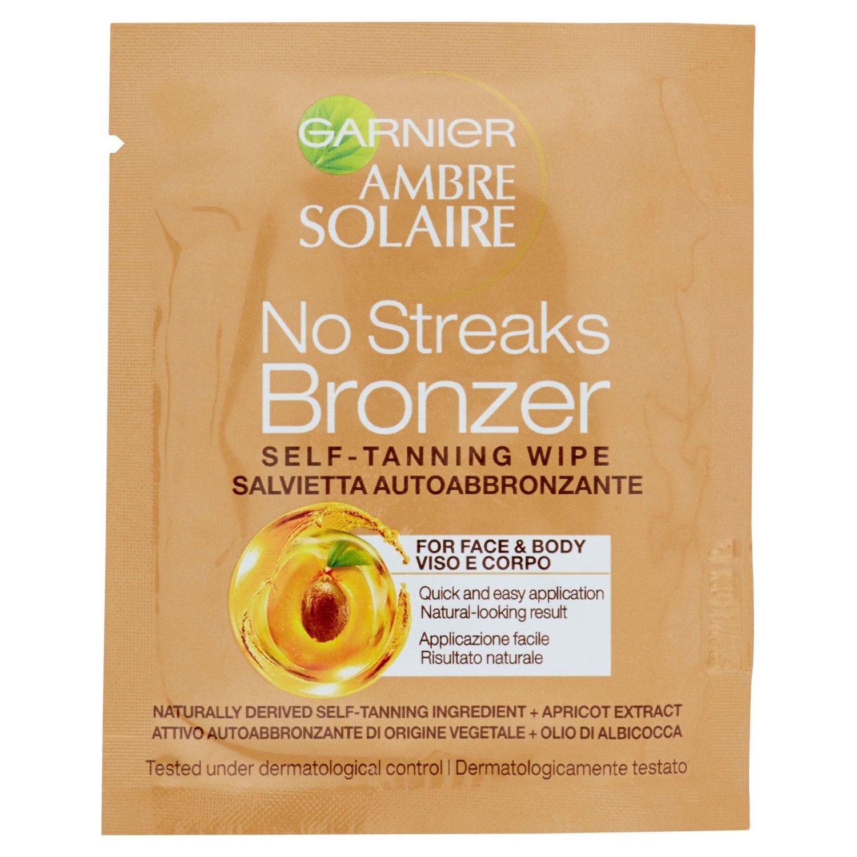 No Streaks Bronzer de ámbar Solar autobronzants toallitas cara cuello decollete: Amazon.es: Belleza
