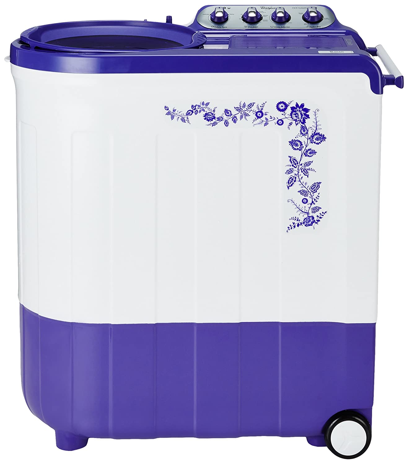 Whirlpool 7.5 kg Semi-Automatic Top Loading Washing Machine (Ace Turbodry 7.5, Flora Purple)