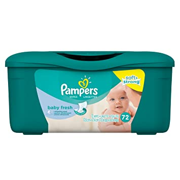 Pampers Baby Fresh Water Baby Wipes Tub, 72 Count