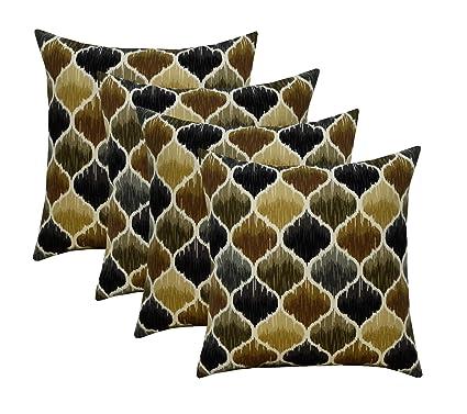 Amazon.com: RSH Décor - Juego de 4 almohadas cuadradas ...