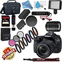 Canon EOS 80D DSLR Camera with 18-135mm Lens USA Model with Warranty Video Bundle