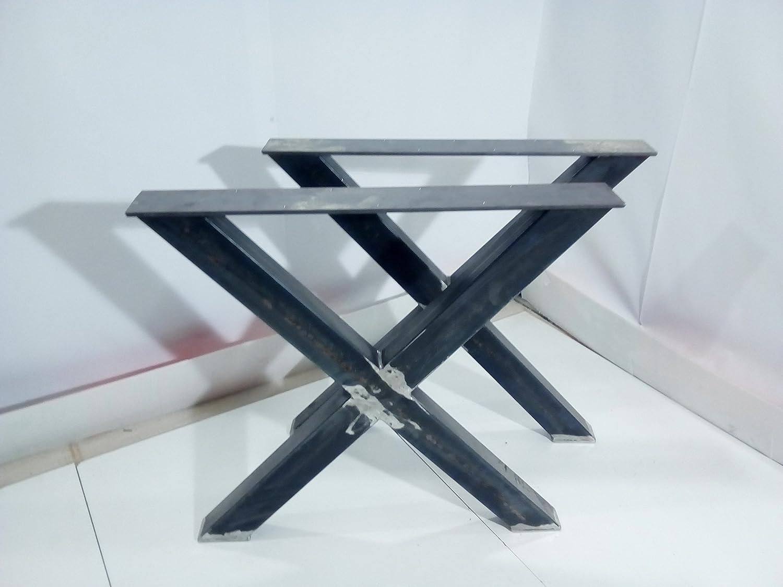 *3* coppia Gambe per tavolo ferro grezzo Steel Legs