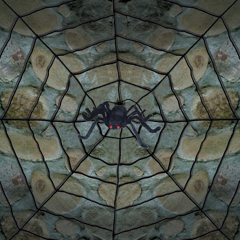 amazoncom rope spider web with spider home kitchen - Spider Web Decoration