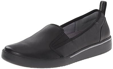 CLARKS Women s Penwick Albee Flat Black Leather
