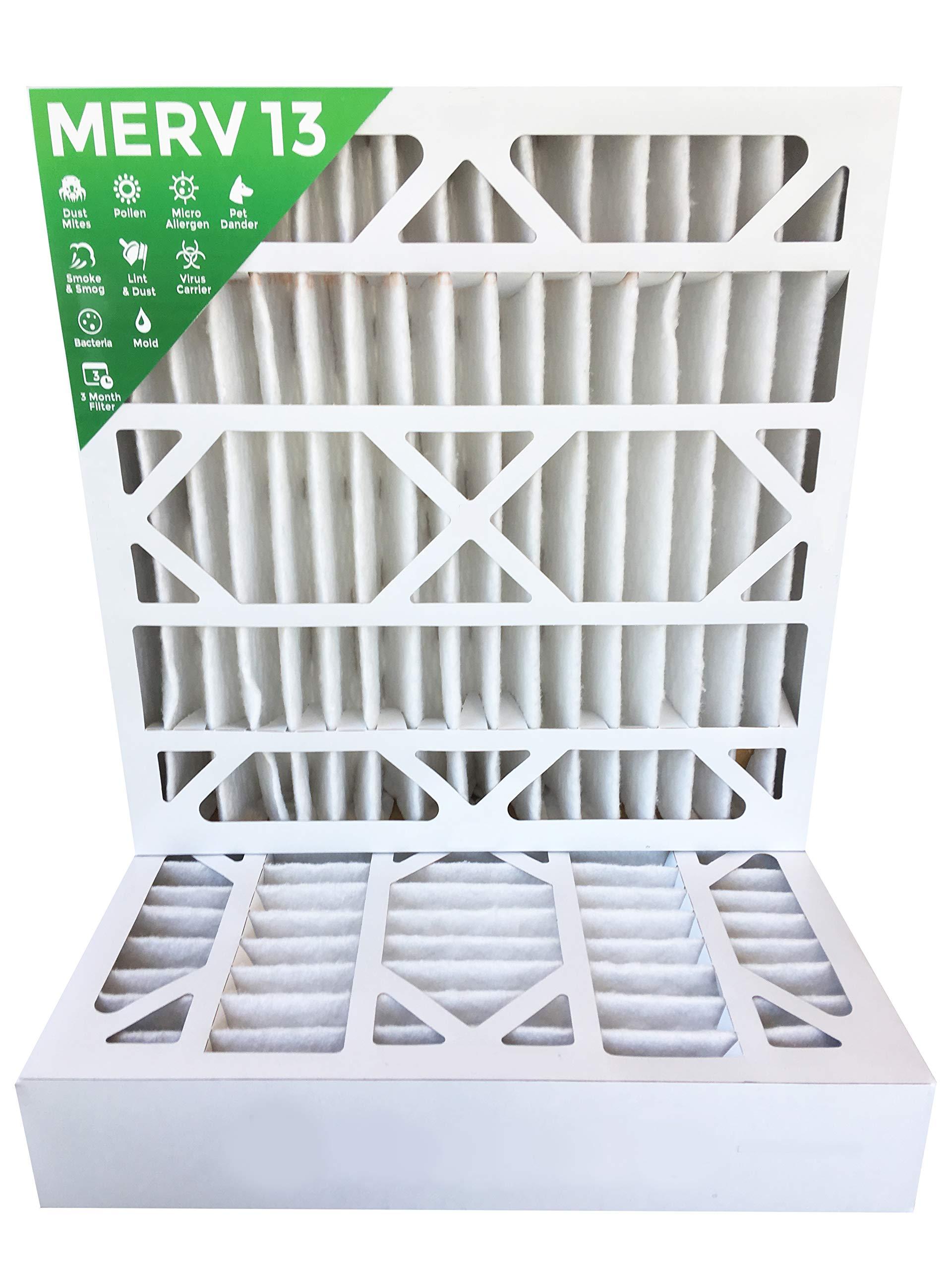20x20x4 MERV 13 AC Furnace 4'' Inch Air Filters. 2 Pack