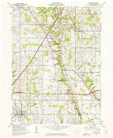 Amazon Com Yellowmaps Seville Oh Topo Map 1 24000 Scale 7 5 X