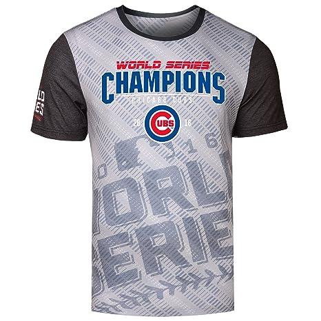 MLB Chicago Cubs 2016 World Series Champions Diagonal Shirt (Small) (Small) 71b9df2f0