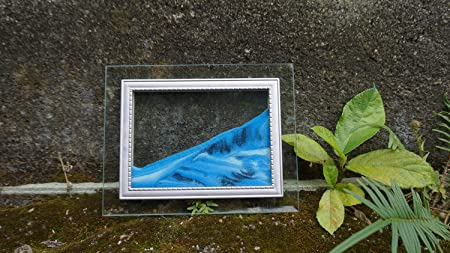 Tsunseam Fancy Flowing Landscape//Hourglass Fluxible Sand Painting//Sand Art The Heart of The Ocean
