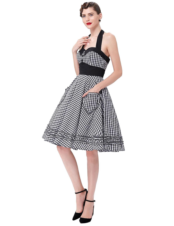 Amazon.com: JS Fashion Vintage Dress Grace Karin Women\'s 50s Vintage ...