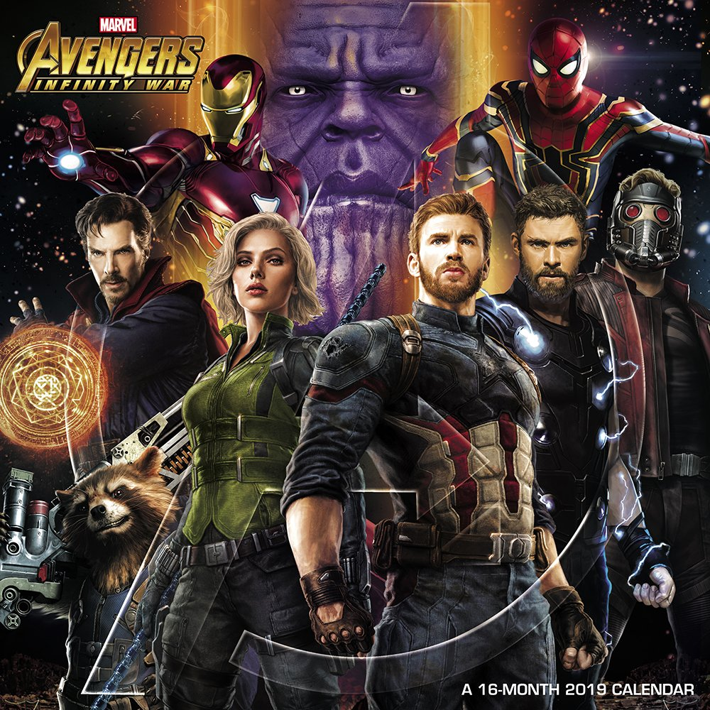 Avengers: Infinity War Wall Calendar (2019) Calendar – July 1, 2018 Day Dream 1635715385 Guardians of the Galaxy Thanos