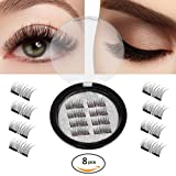 Amazon Price History for:New Magnetic False Eyelashes-Ultra Thin 3D Fiber Reusable Best Fake Lashes Extension for Natural Look,Perfect for Deep Set Eyes & Round Eyes 2 Pairs