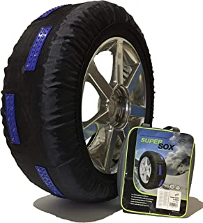 SCC S46 SuperSox Tire Traction with Reinforced Studded Urethane Pads, Set of 2