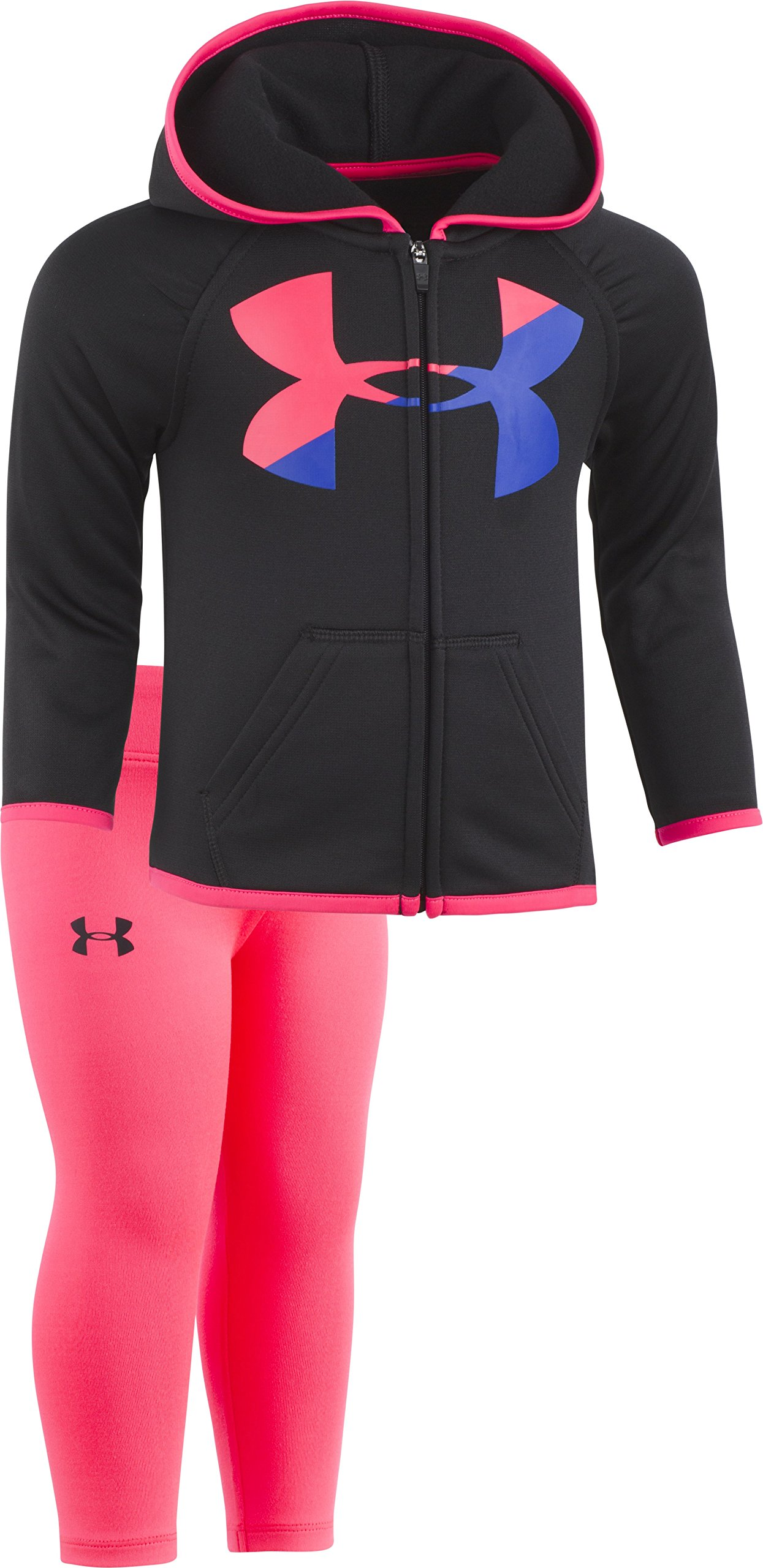 Under Armour Baby Girls' Big Logo Hoody Set, Black, 3/6M by Under Armour