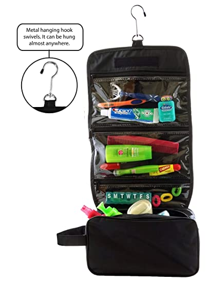 3a3dca1bbe2e Amazon.com  Ensign Peak Hanging Travel Bag with Toiletries Organizer and  360 degree Swivel Hook