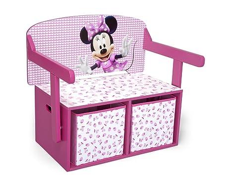 Scrivania In Legno Minnie Mouse : Disney cassapanca portagiochi minnie mouse convertibile in