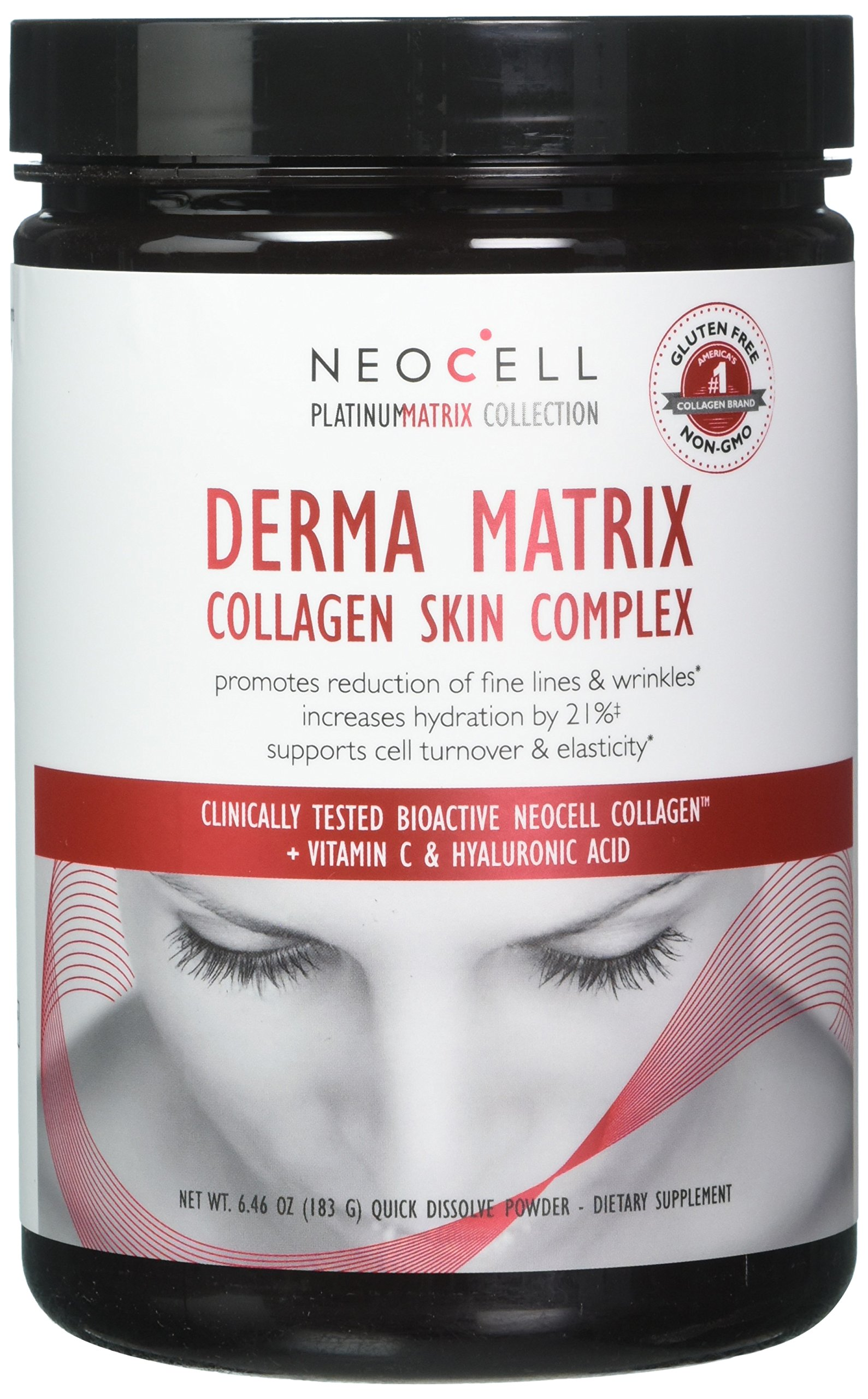 NeoCell - Derma Matrix - BioActive Collagen with Vitamin C and Hyaluronic Acid - 6.46 Ounces