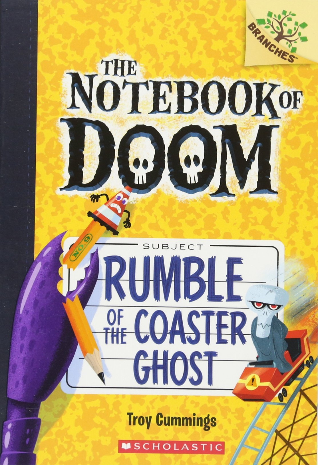 Amazon: Rumble Of The Coaster Ghost: A Branches Book (the Notebook Of  Doom #9) (9780545864978): Troy Cummings: Books