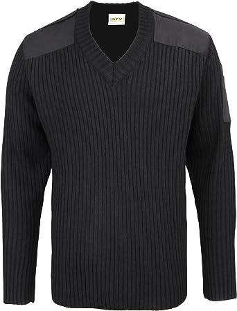 Navy 5XL New Mens RTY Nato Style V Neck Sweater J99-120.