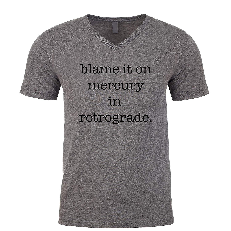 18cae7188c Amazon.com  Blame It On Mercury in Retrograde Men s V Neck Shirt  Clothing