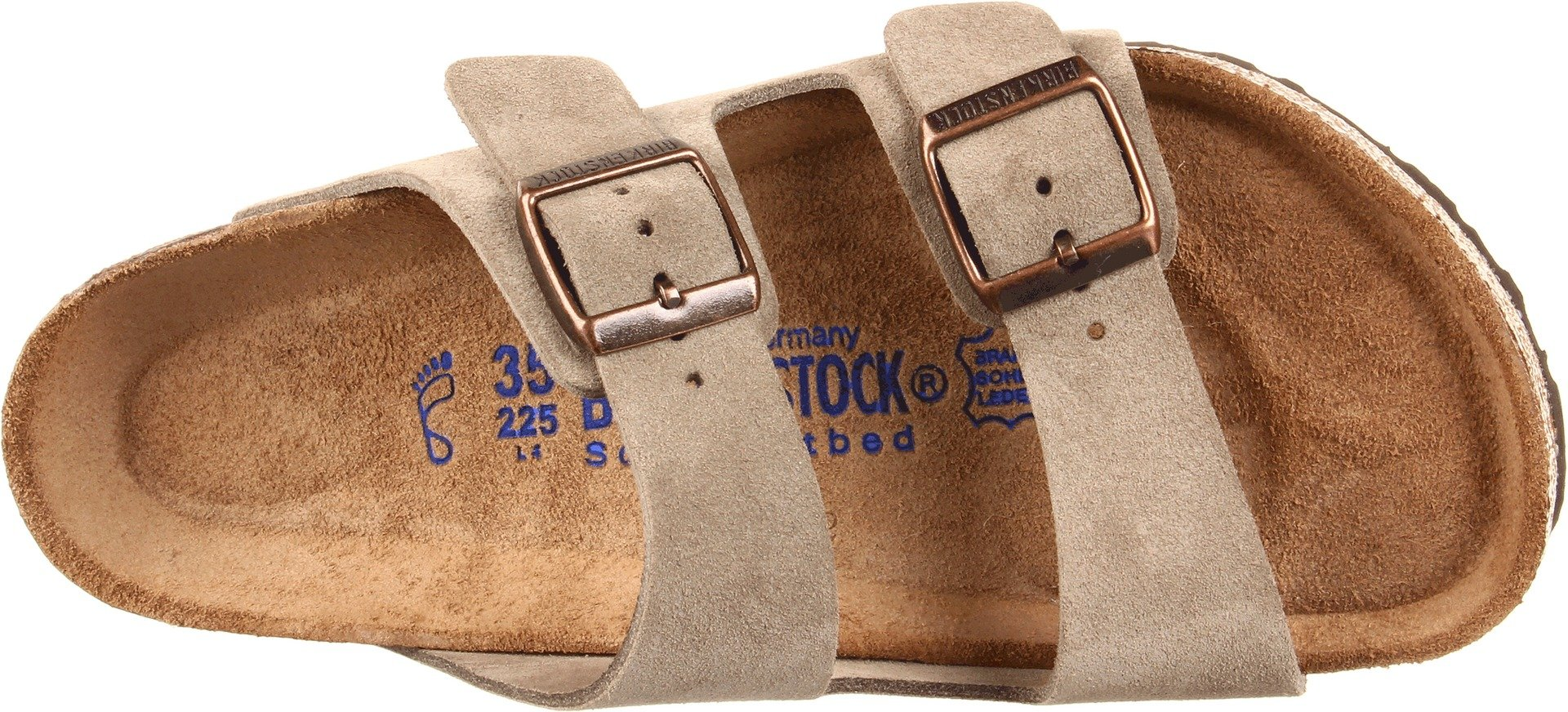 Birkenstock Unisex Arizona Taupe Suede Soft Foot Bed Sandals - 38 M EU / 7-7.5 B(M) US by Birkenstock (Image #7)