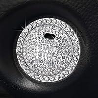 Gprfrvea Car Interior Decoration Emblem Sticker, Bling Car Crystal Rhinestone Ring Accessories for Women,Push to Start…