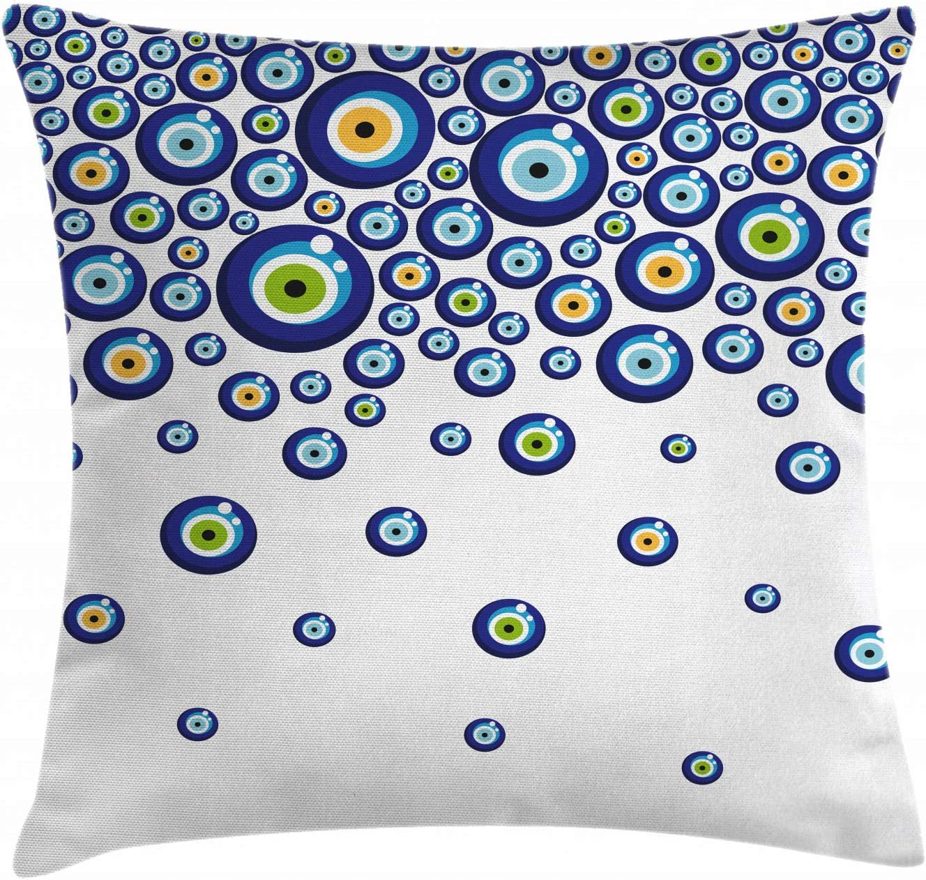 Resistente a Manchas Material Lavable Colores Firmes No Desti/ñen Cal/éndula Verde Azul ABAKUHAUS Mal De Ojo Mantele Amuletos Turcos Animados 140 x 200 cm