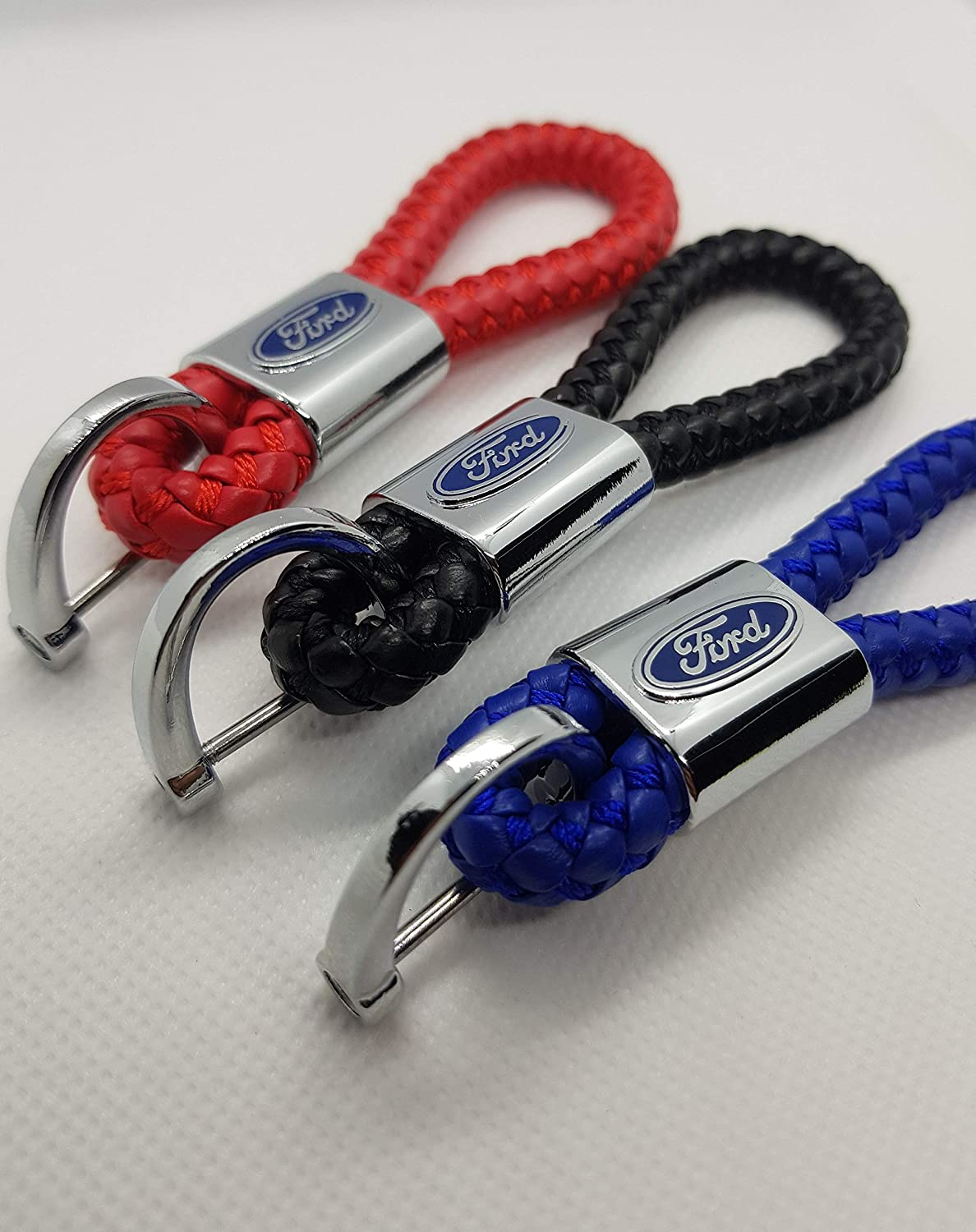 Key Chain Accessories With Leaping Logo Emblem KeyChain Accessories Keyring Gift for Man and Women ELPCraft Leather Car Logo Keychain Compatible For Jaguar Blue