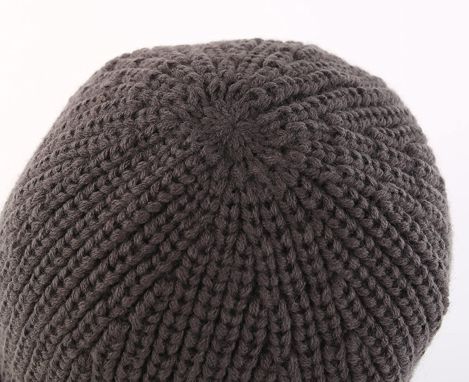 Home Prefer Mens Outdoor Newsboy Hat Winter Warm Thick Knit Beanie Cap with Visor