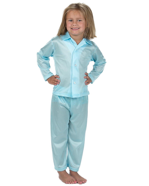 Laura Dare Baby Girls Basics Unisex Tailored Ice Blue Pajamas 24m