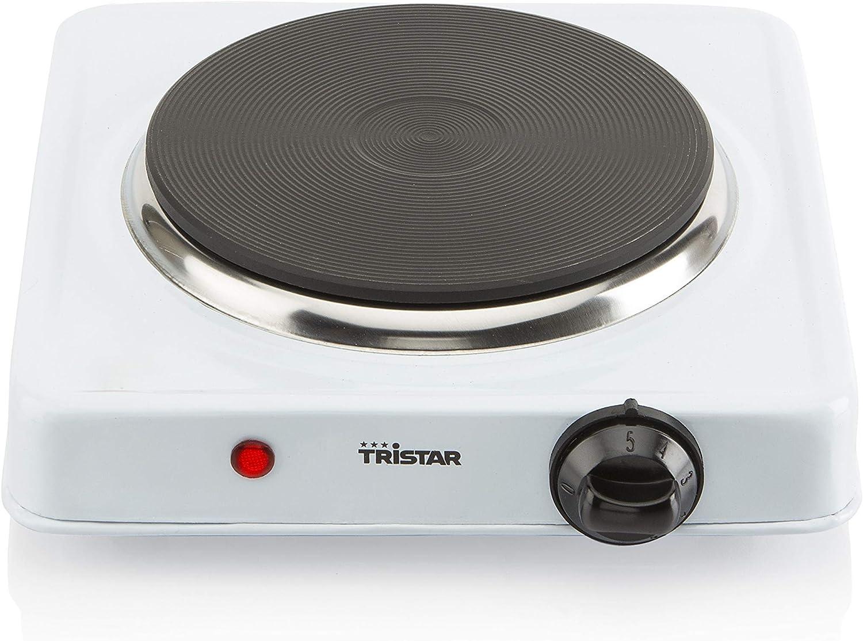 Tristar KP-6185 - Placa de cocción con termostato, diámetro de 15 cm, Blanco