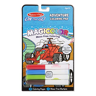 Melissa & Doug On the Go Magicolor Coloring Pad: Adventure - 18 Coloring Pages and 4 Markers (Great Gift for Girls and Boys - Best for 3, 4, 5, 6, 7 Year Olds and Up): Toys & Games