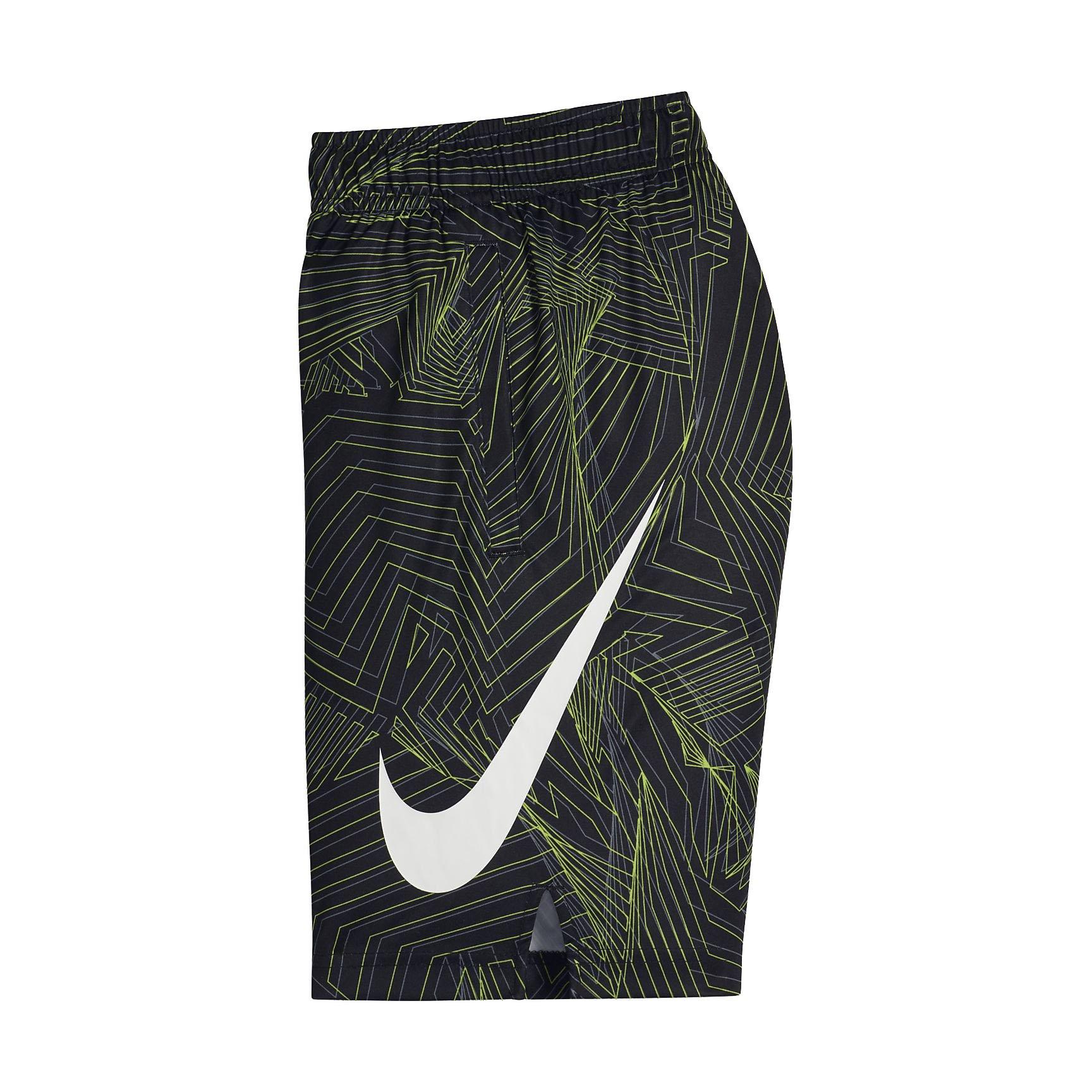 NIKE Big Kids' (Boys') Dri-FIT Training Shorts (Black(892490-010)/Cool Grey, Medium)