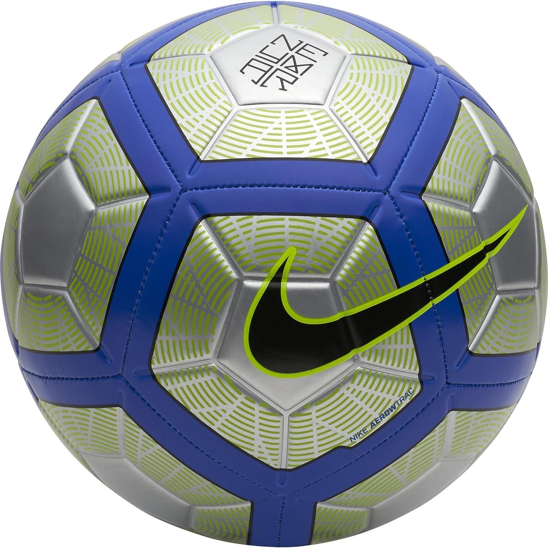Nike Neymar Strike - Pelotas de fútbol (Negro, Azul, Cromo, Verde, Específico, 12-Panel Ball, Estampado, EVA (Etileno Acetato de Vinilo), Poliéster, Poliuretano, Caucho, 1 Pieza(s)) Específico Poliéster SC3254-012