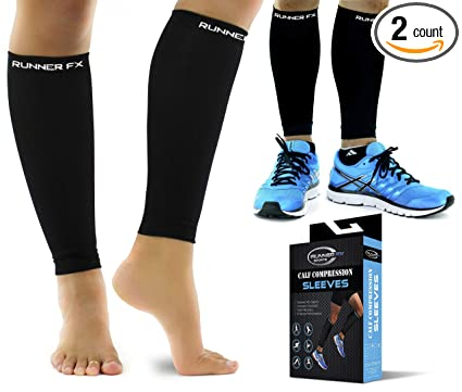 1f652bc965 Pro Calf Compression Sleeve Men & Womens (20-30mmHg) - Shin Splint Leg