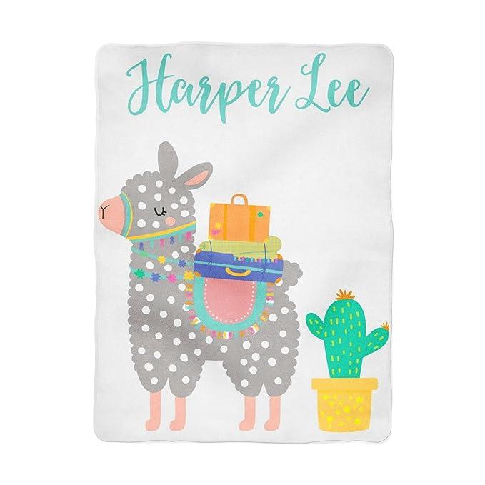 Amazon.com: Personalizado llama manta de bebé Baby Shower ...