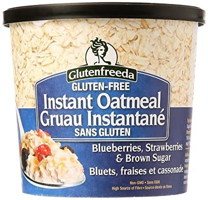 Glutenfreeda - Arándanos inmediatos de la taza de la harina de avena, fresas y azúcar