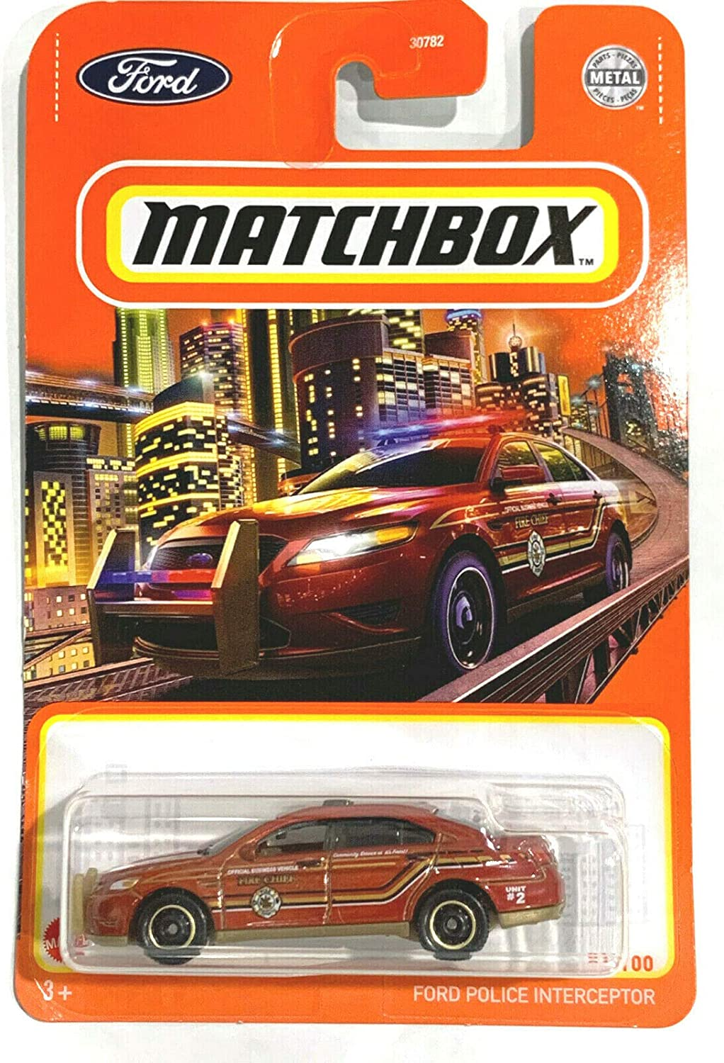 Matchbox Ford Police Interceptor 81/100 red