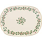 Lenox Holiday Oblong Platter,Ivory,15.25""