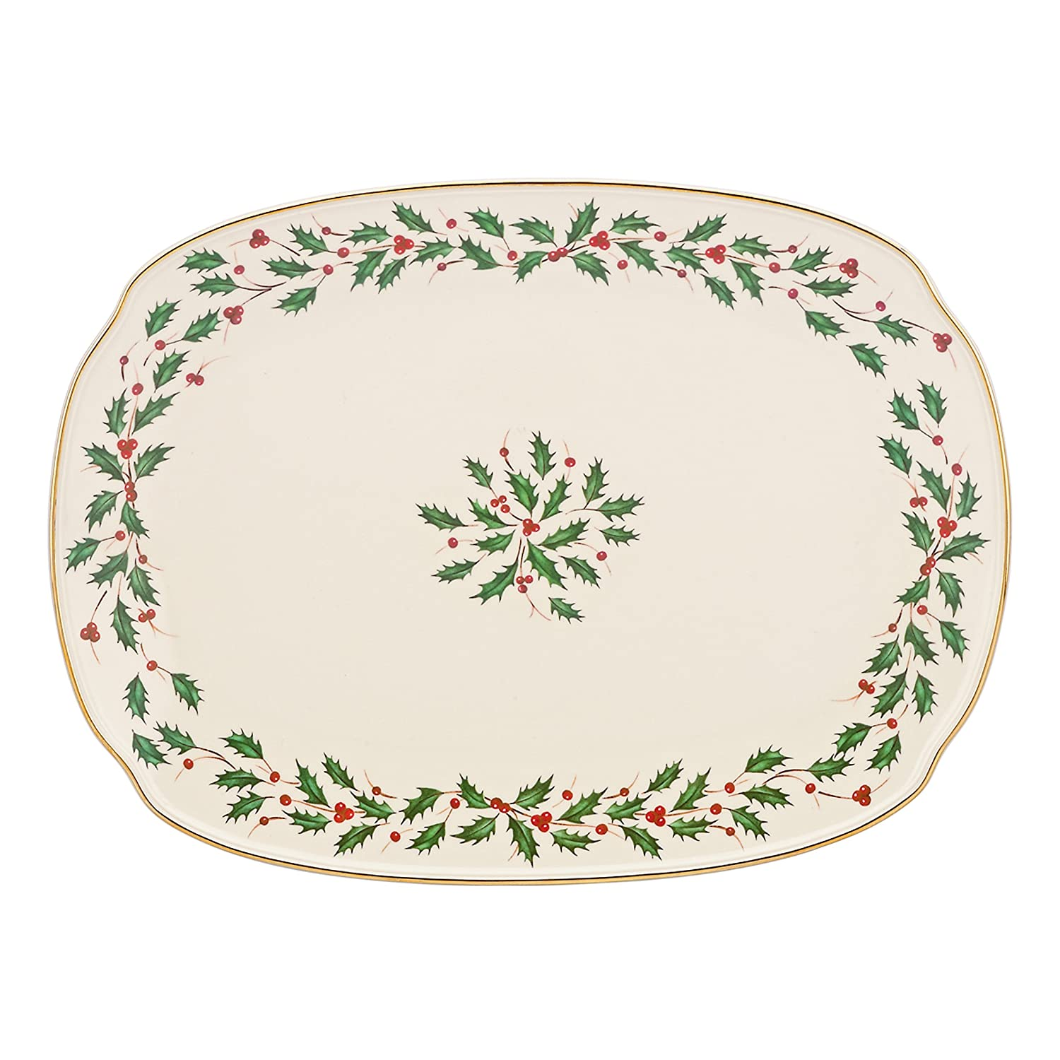 Christmas Holly Serving Platters