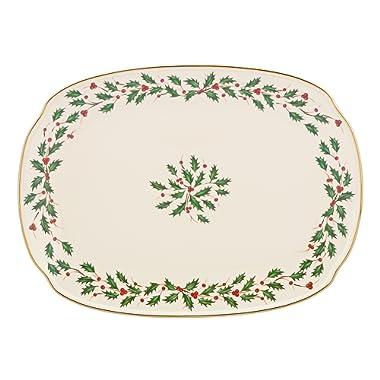 Lenox Holiday Oblong Platter,Ivory,15.25