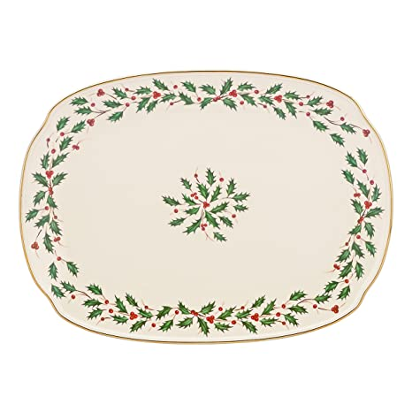 Lenox Holiday Oblong PlatterIvory15.25u0026quot;  sc 1 st  Amazon.com & Amazon.com: Lenox Holiday Oblong Platter Ivory 15.25